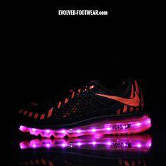Pink Led Lights, Light Up Shoes, Max 2015, Custom Shoes, Nike Free, Nike Air Max, Footwear, Sneakers Nike, Women