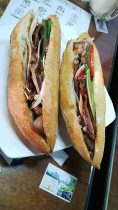 Banh mi, the most famous food in Viet Nam. This is Banh mi Phuong in Hoi An,is voted the best Banh mi the world.