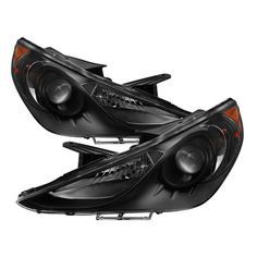 For 2011 2012 2013 2014 Sonata Factory-Style Black Headlights Replacement 11 12 13 14 Left+Right 921013Q000, 921023Q000,HY2502159, HY2503159