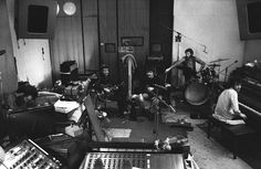 The Band in the studio
