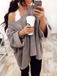 Halter top outfit with cozy sweater