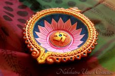 Diwali lamp or diya Diwali Decoration Items, Diya Decoration Ideas, Handmade Decorations, Decor Ideas, Craft Ideas, Diwali Diya, Diwali Craft, Diwali Party, Diya Designs