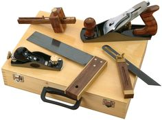 This is a Professional Woodworking Kit with matching rosewood and brass accents that has all the essentials for producing the very best work.