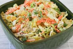 Napa Cabbage Slaw with Carrots and Fennel-Dijon Dressing is a fun variation on traditional coleslaw. Napa Cabbage Recipes, Napa Cabbage Slaw, Fennel Recipes, Cabbage Salad, Slaw Recipes, Veggie Recipes, Healthy Recipes, Slaw Dressing, Salads