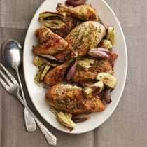 Crispy Salt and Pepper Chicken with Caramelized Fennel and Shallots (Meat)