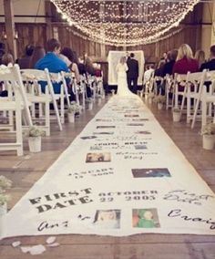 Ceremony Decor |Love Story Aisle Runner