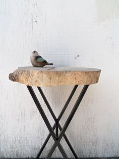 Rustic Modern Raw Wood and Steel RePurposed by bettyrayvintage, $152.00
