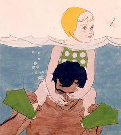 Al Parker, original art, 1957