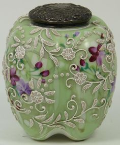 Nippon Moriage Vase with beading