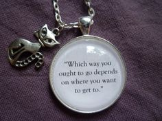 Alice in Wonderland Jewelry Which way you by StorybookWhimsies, $22.00