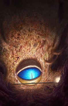 Mike Burns Illustration: Korrok, Slavemaster from the Eighth Plane (John Dies at the End) Monster Art, Fantasy Monster, Monster Eyes, Fantasy Concept Art, Dark Fantasy Art, Fantasy Artwork, Arte Horror, Horror Art, Images Terrifiantes