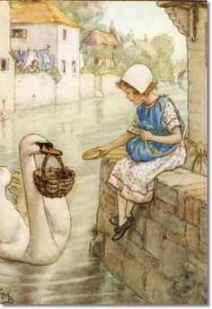 Cicely Mary Barker le Seigneur du fleuve nouara les boulangers petite fille 8323  dessin illustration