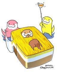 Otter Cartoon, Otter Love, I Wallpaper, Food Illustrations, Otters, Cute Drawings, Princess Peach, Fantasy Art, Pikachu