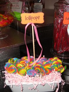 CandyLand Theme Party by  http://www.sweet-servings.blogspot.com