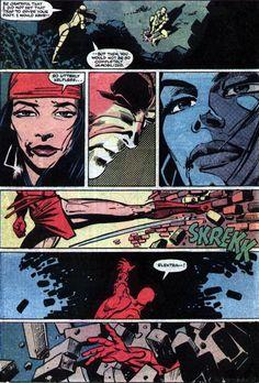 Frank Miller and Klaus Janson's Daredevil Comic Book Pages, Comic Page, Comic Book Artists, Comic Book Covers, Comic Artist, Daredevil Artwork, Daredevil Elektra, Best Comic Books, Comic Books Art