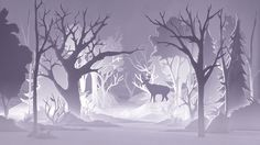 """I am a Forest"" Gorgeous film made from cut paper silhouettes. Alex Schulz"