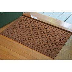 Bungalow Flooring Aqua Shield Elipse Doormat Size: 2' x 3', Color: Dark Brown