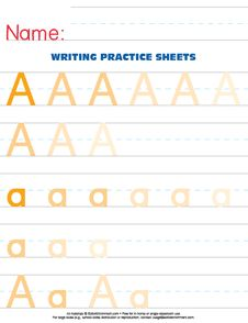 letter_a_color Letter printables :) Printable Numbers, Printable Letters, Handwriting Practice Worksheets, Preschool Letters, Smarty Pants, Too Cool For School, Play To Learn, Occupational Therapy, Homeschooling