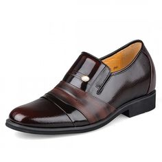 Find Business pointed height dress shoes get taller 7cm / 2.75inches men elevator wedding shoes with SKU: MENSGL_2119 from Topoutshoes online store
