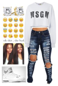 """""""MSGM"""" by daijahhill25 ❤ liked on Polyvore"""