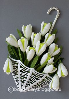 quilled snowdrops