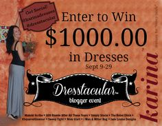 Win $1000 in Karina Dresses #Dresstacular - Simply Stacie