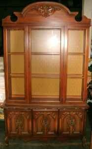 Wood China Cabinet - $50 (EAST BALTIMORE)