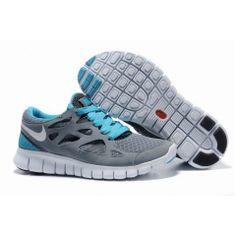 2012 Nike Free Run Plus 2 gråblå kvinder sko