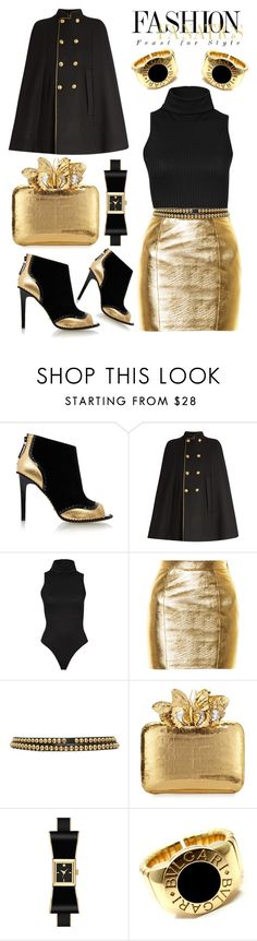 """""""Feast Your Eyes......"""" by queenrachietemplateaddict ❤ liked on Polyvore featuring Kat Maconie, Yves Saint Laurent, Burberry, Nancy Gonzalez, Kate Spade and Bulgari"""