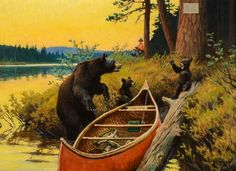 A Surprise for Everyone [Bears] : Philip R. Goodwin : circa 1906 #Illustration