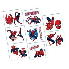 Ultimate Spider-Man Temporary Tattoos 16ct