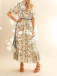 Maison Mayle - Vava Dress - Ivory Black