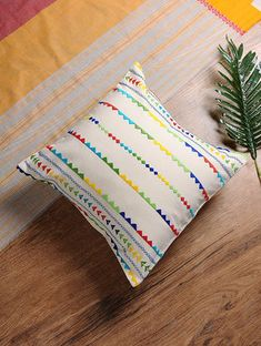 Handmade Cushion Covers, Handmade Cushions, Decorative Pillow Covers, Blue Pillows, Throw Pillows, Crochet Pillow Pattern, Embroidery Kits, Embroidery Stitches, Embroidery Designs