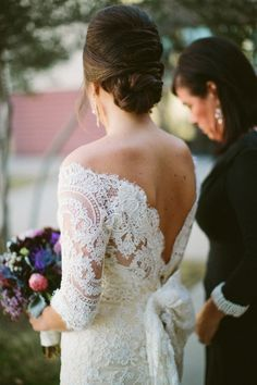 25 Elegant Long Sleeve Wedding Dresses.  Just incase we have a cold-weathered wedding which is very possible in CT.