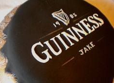 A fun way to celebrate - with a Guinness cake! Even the inside can be made of Guinness with Bailey's buttercream - oh yeah! Created by The Cake Diva.