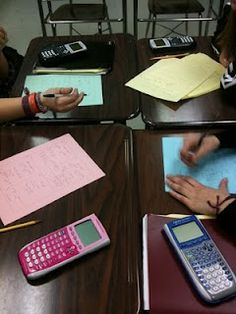 Exponential Equations Add Em Up Activity... Groups of four. Four different problem pages. Students complete one problem per page. When all problems are complete, add up the four answers. Post the sum for Ss to check their answers.