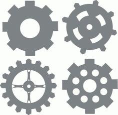 Silhouette Design Store - View Design #42827: gears  50c