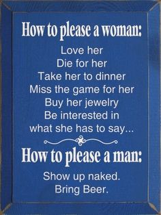 .HOW TO PLEASE A MAN