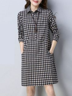 Linen Dresses, Modest Dresses, Simple Dresses, Casual Dresses, Fashion Dresses, Fall Dresses, Shift Dresses, Mod Dress, Dress Skirt