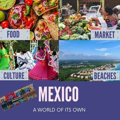 Mexico 🇲🇽 FOOD, MARKET, CULTURE, BEACHES ⛱. Give us a call!