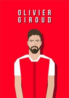 Olivier Giroud  #flat #vector #face