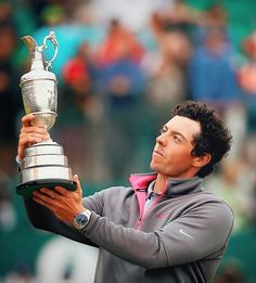 Rory McIlroy with OMEGA Seamaster Aqua Terra watch at The 143rd Open Championship at Royal Liverpool on 20th July 2014 http://www.whats-he-wearing.com/2014/07/rory-mcilroy-omega-seamaster-aqua-terra-watch-143-open-championship.html