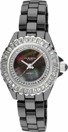 Akribos XXIV Women's AK518SSB Quartz Baguette Ceramic Bracelet Watch Akribos XXIV. $145.53. Save 85% Off!