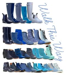 """""""Blue Boots"""" by savannahliscomb on Polyvore featuring Refresh, Godiva, Dr. Martens, Shellys, Diesel, Hunter, Timberland, Hailey Jeans Co., Palladium and Bamboo"""