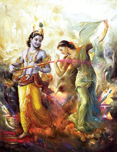 """🌺 RADHA KRISHNA 🌺 """"O my dear Krishna, You are the friend of the distressed, the ocean of mercy, and the Lord of creation. You are the master of the cowherdsmen and the lover of the gopis, especially Radharani. I offer my respectful obeisances unto. Radha Krishna Holi, Krishna Lila, Jai Shree Krishna, Lord Krishna Images, Radha Krishna Pictures, Krishna Art, Bal Krishna, Indiana, Lord Krishna Wallpapers"""