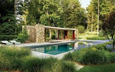 Terrasse modern holz glas pergola markise pool