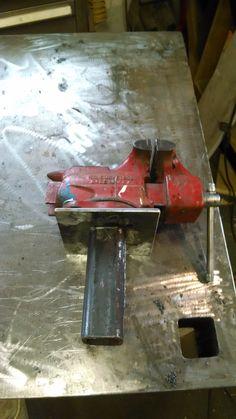 Welding table drop in vise.