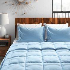 Charlton Home® Currin Comforter Set & Reviews | Wayfair Ruffle Bed Skirts, Ruffle Bedding, Plaid Bedding, King Comforter, Comforter Sets, Purple Comforter, Tommy Bahama, Laura Ashley, Cotton Sheet Sets