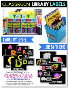 Classroom Library Organization - Simplified - Kinder Craze: A Kindergarten Teaching Blog