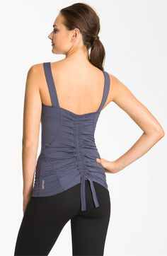 Zella 'Pretty' Shirred Tank   Nordstrom  Loving this workout top